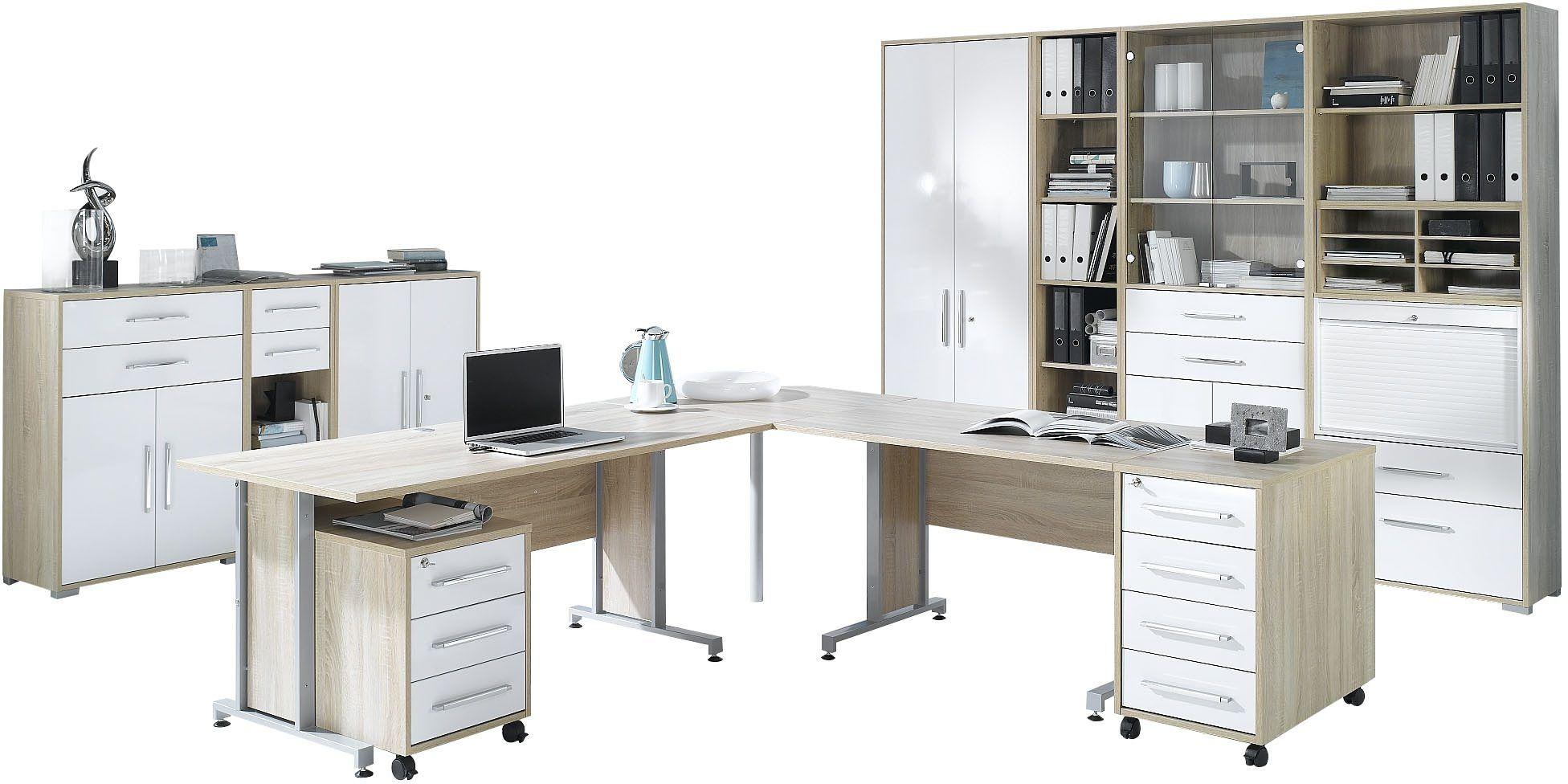 MAJA Möbel Büromöbel-Set (6-tlg.) »1205« beige, Hochglanz Jetzt ...