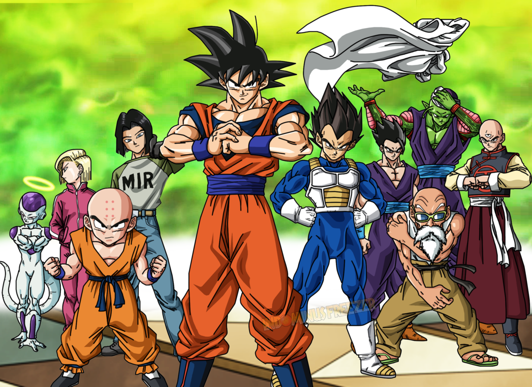 Team Universe 07 Colors Dragon Ball Super By Indominusfreezer Dragon Ball Super Dragon Ball Dragon Ball Art