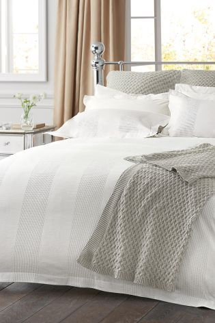 Bedroom Decor Next buy cotton waffle stripe bed set from the next uk online shop