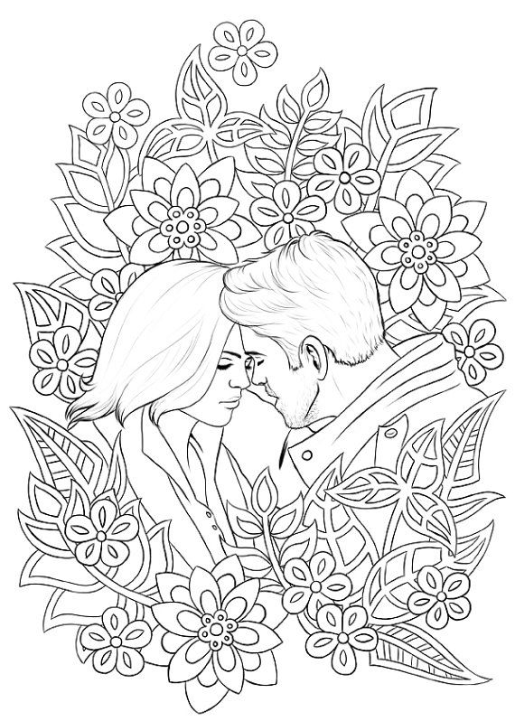 once upon a time coloring pages Once Upon A Time adult colouring pages   Captain Swan & Outlaw  once upon a time coloring pages