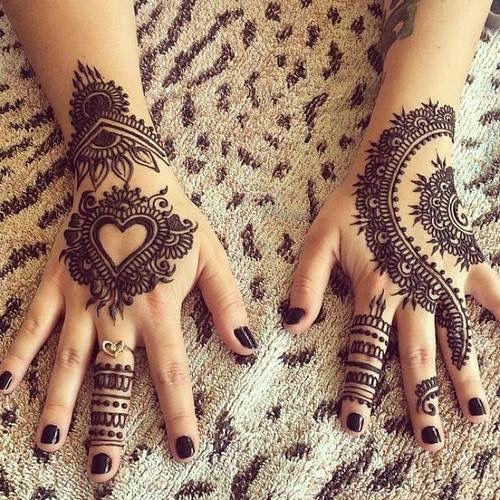 Greatattoos Henna Tattoo Designs Henna Heart Henna