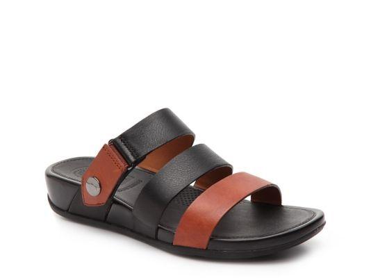 Women's FifFlop Gladdie Slide Wedge Sandal - Black/Cognac