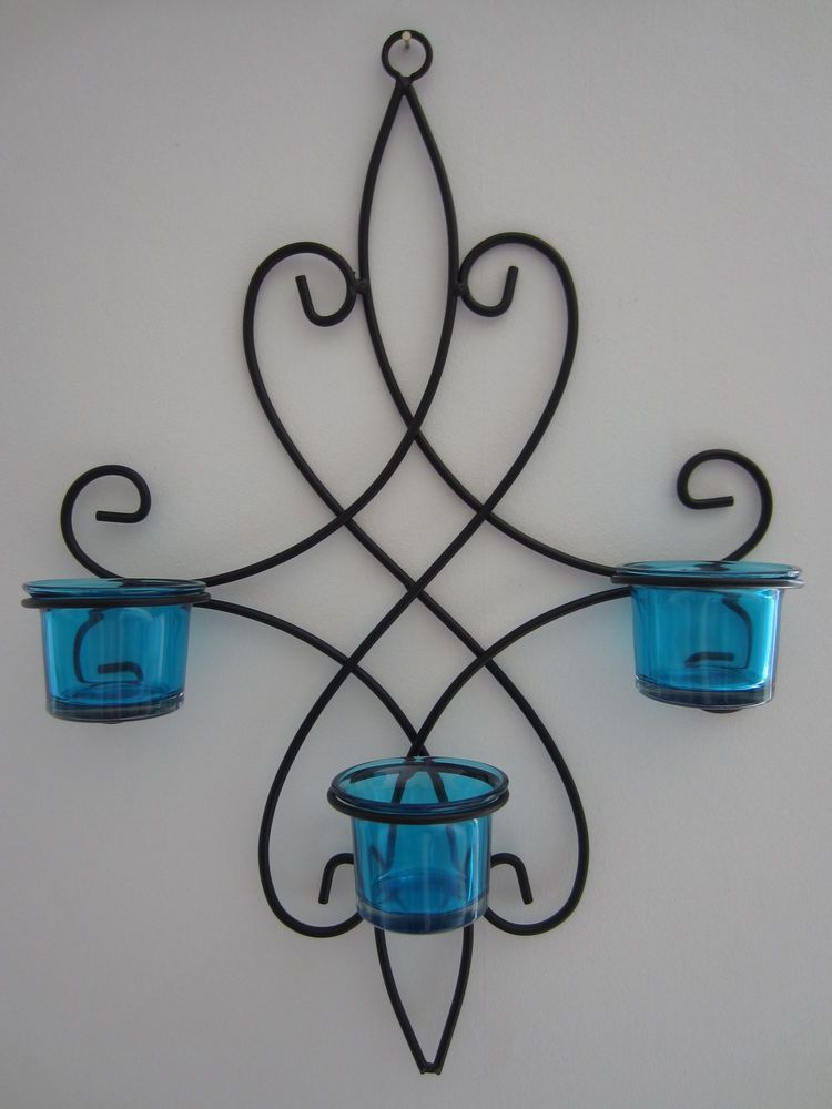 Details About Metal Wall Tea Light Candle Holder Choice Of Colour 4 Pc Splendid Wall Art Metal Candle Holders Tealight Candle Holders Candle Holders