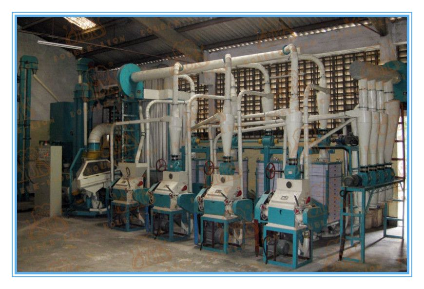 1030T/D floor type wheat milling plant Flour mill