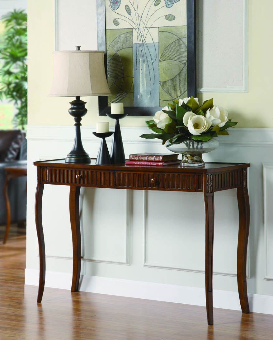 Traditional Cherry Console Table Unique Console Table Console Table Coaster Fine Furniture