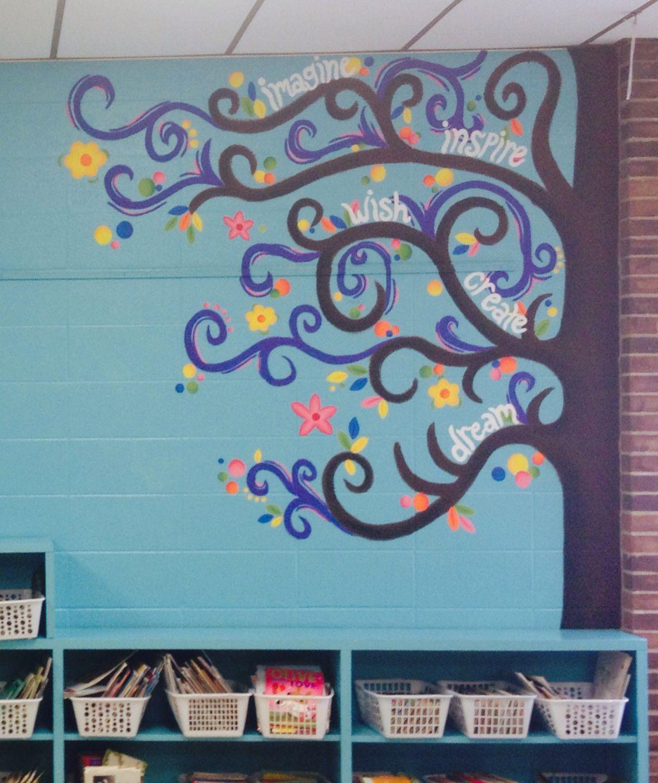 Classroom Mural Design ~ Classroom mural tree art room pinterest