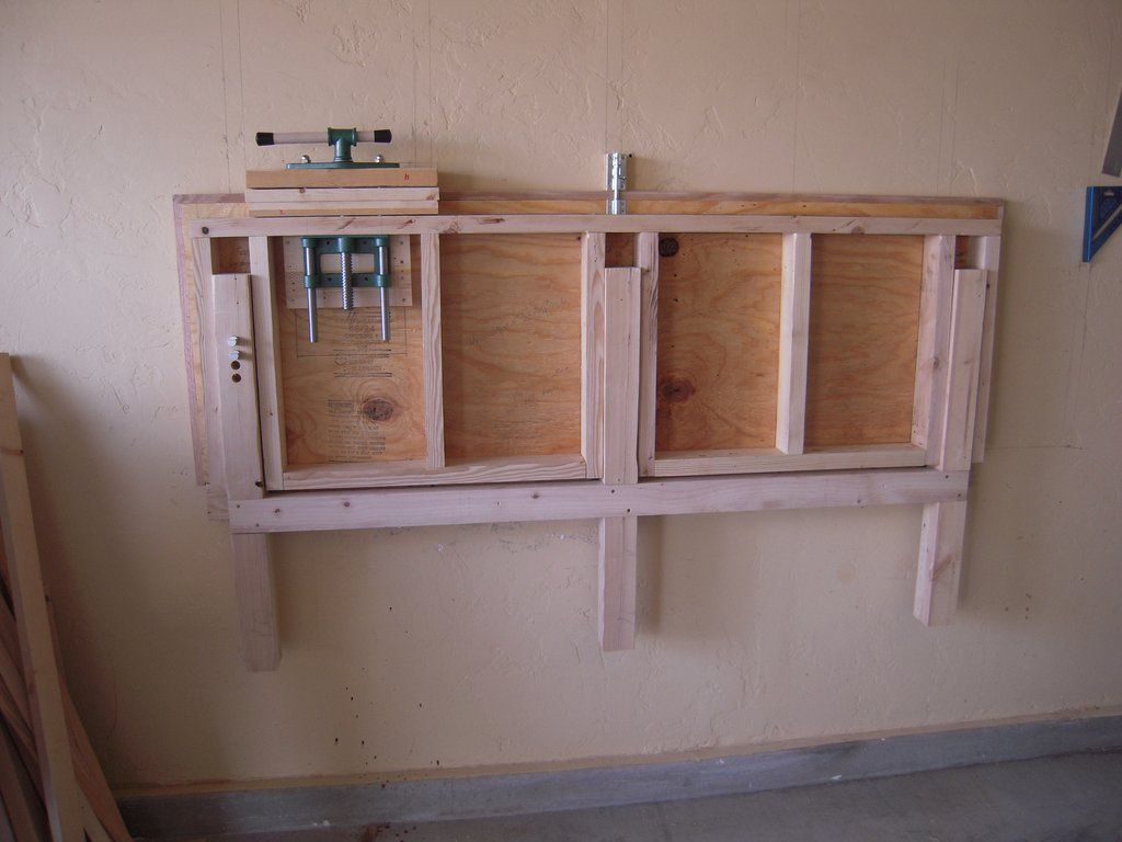 How to build a fold up down workbench manly crap for Build a garage online