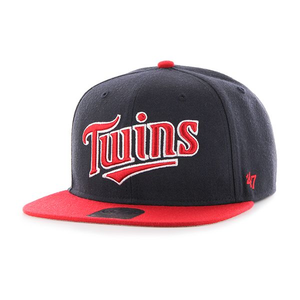 purchase cheap ba0a2 7b682 Minnesota Twins Script Side Two Tone Captain Navy 47 Brand Adjustable Hat