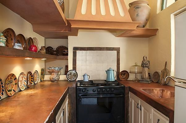 Old World Spain Interiors | Copper Counters | Old World Spanish Decor |  Pinterest