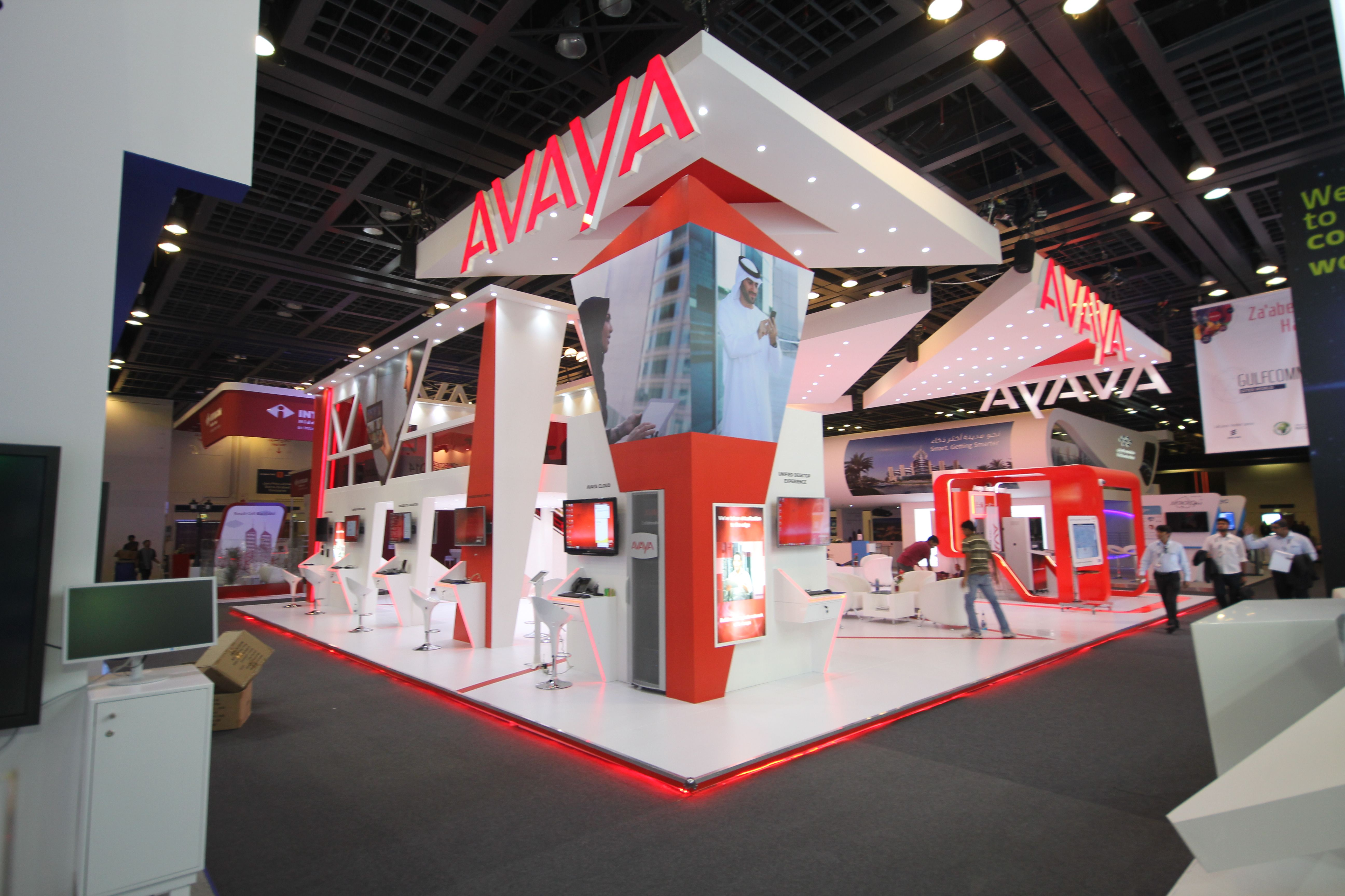 Exhibition Stand Awards : Avaya award winning stand design