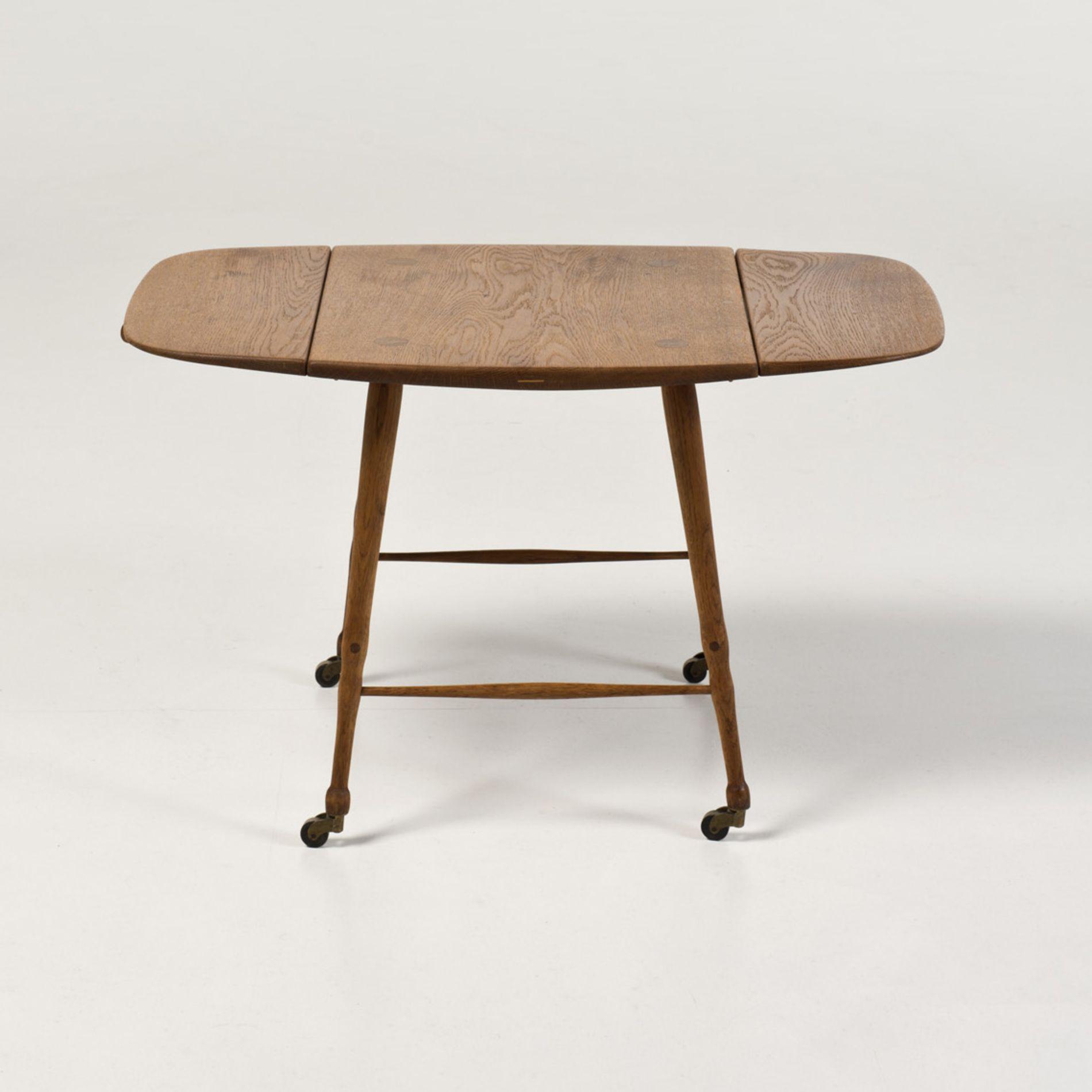 Peder Moos; Oak Table on Casters, 1947.