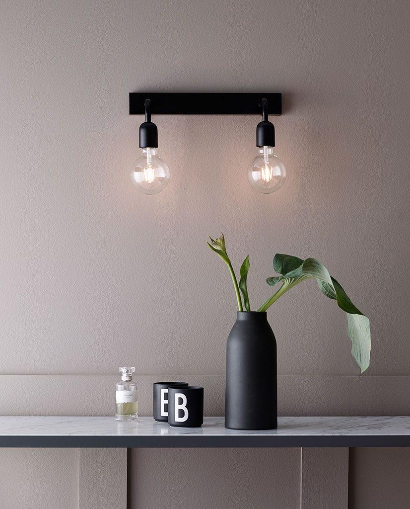 Photo of Belid Regal Vegglampe Dobbel Sort – Designbelysning.no