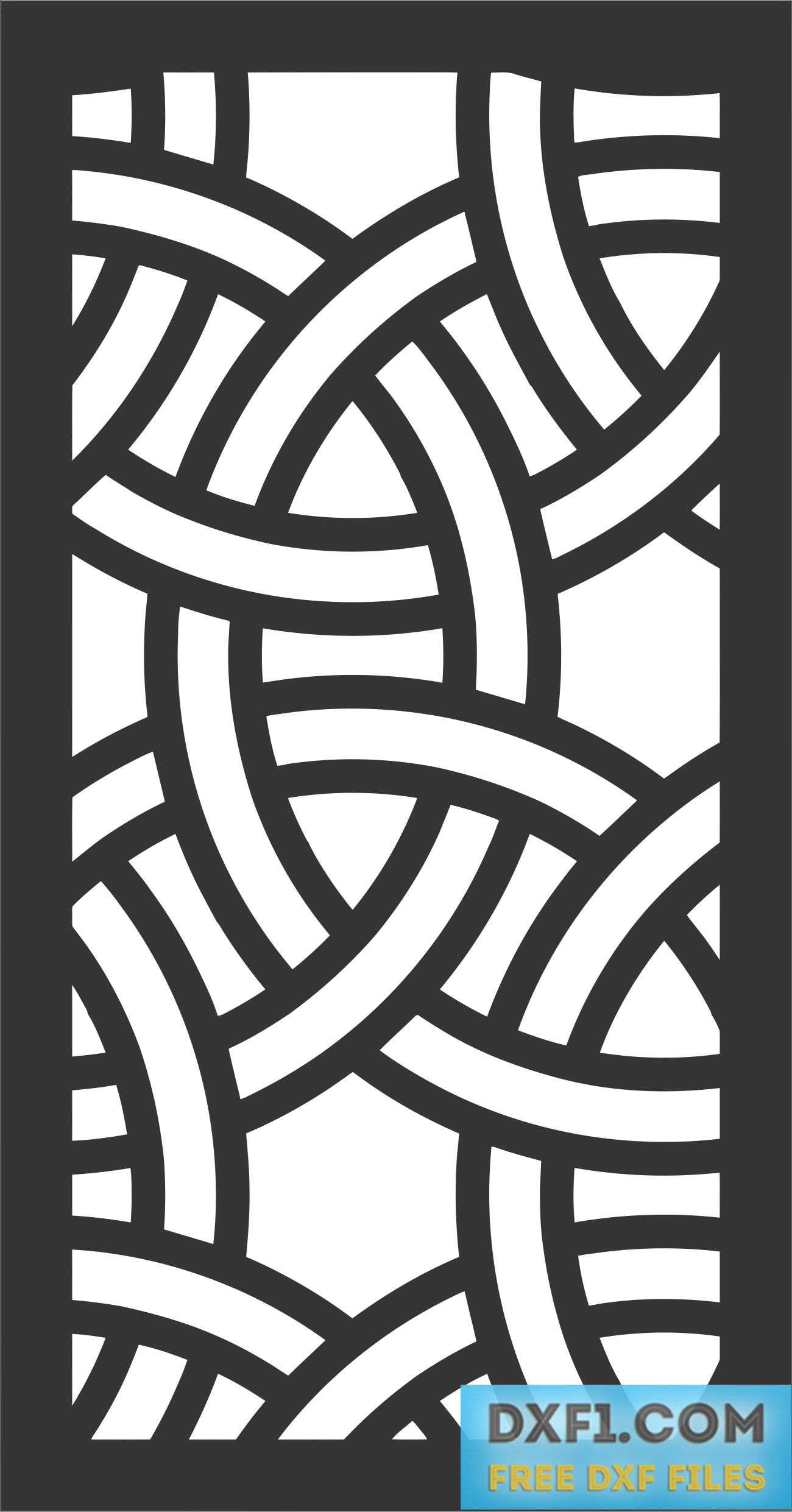 Celtic knot Privacy screen cut file 2 - FREE DXF FILES  FREE CAD
