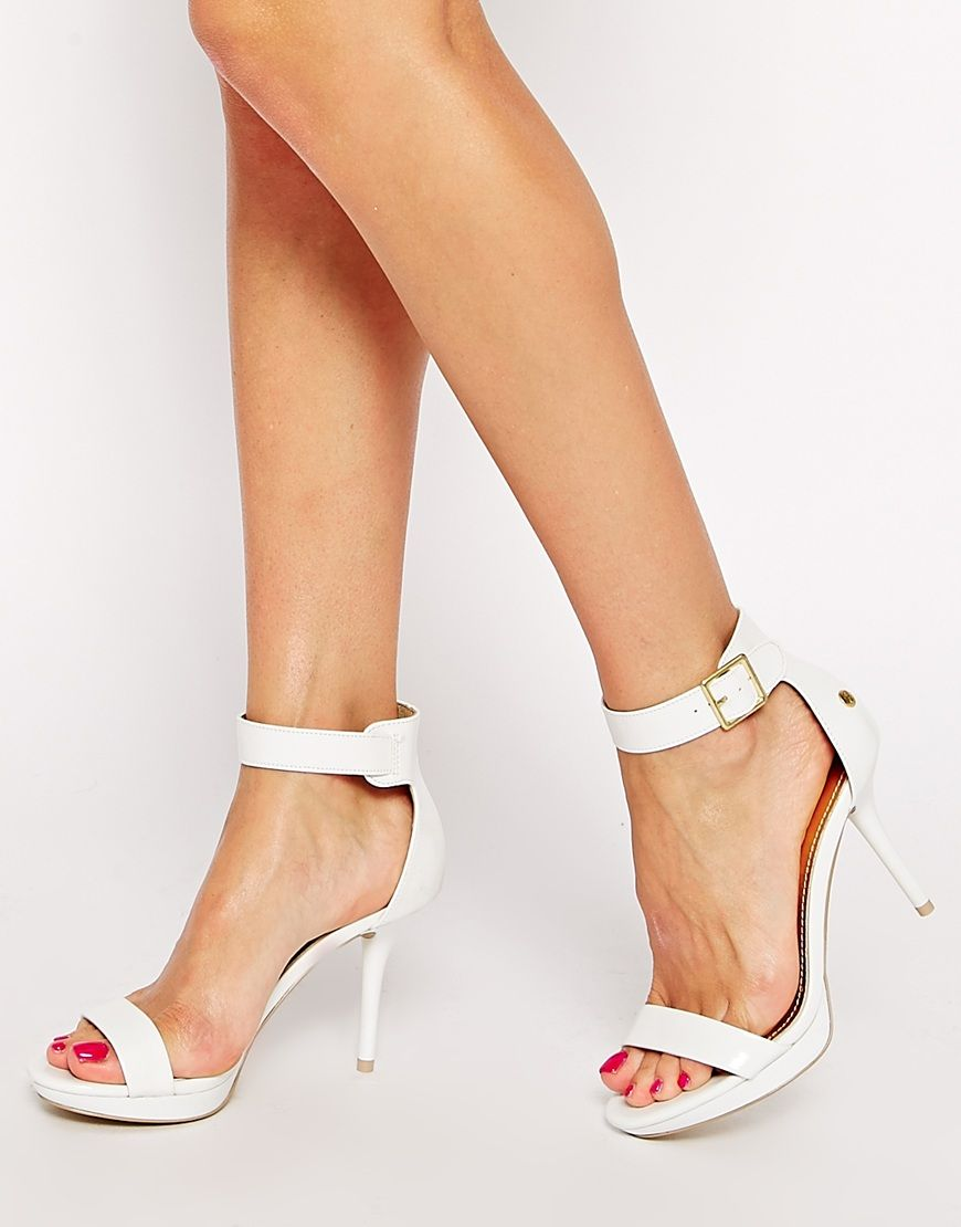 09ce05a5dc4 Blink+White+Patent+Barely+There+Heeled+Sandals