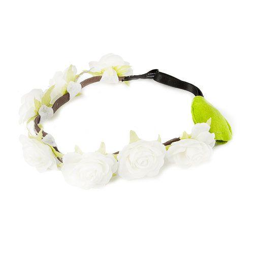 Flashion Flowers™ White Roses Lighted Flower Headband  590c12dd280