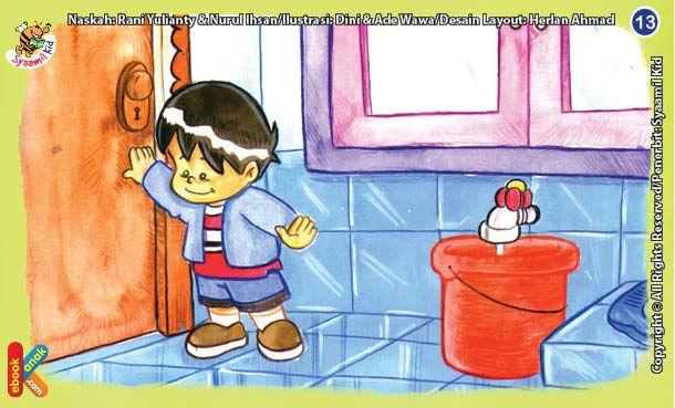 Jika Kita Masuk Ke Kamar Mandi Tutup Pintu Kamar Mandinya Ya Mandi Buku Anak Anak