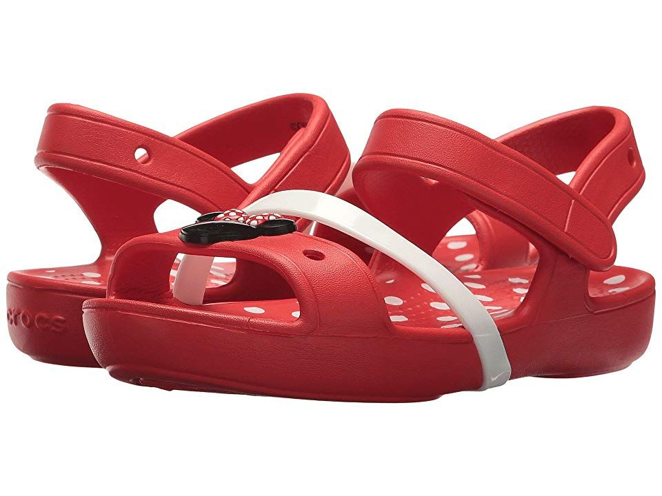 4ba5be859fdb2c Crocs Kids Lina Minnie Sandal (Toddler Little Kid) Girls Shoes Flame ...