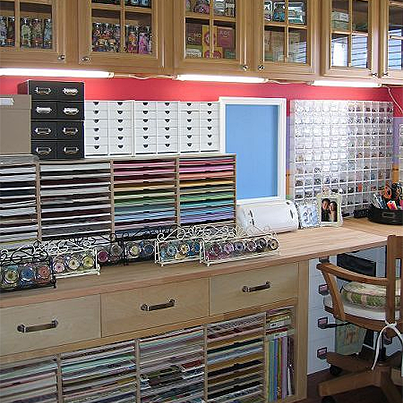 american crafts inspired scraproom deco rangement pinterest atelier scraproom et rangement. Black Bedroom Furniture Sets. Home Design Ideas
