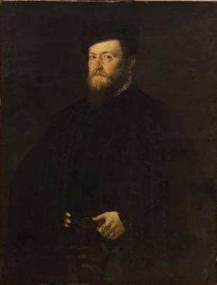 Lambert Sustris  (1515-1591) - A Man, circa. 1555-1560. Kunsthistorisches Museum, Wien.