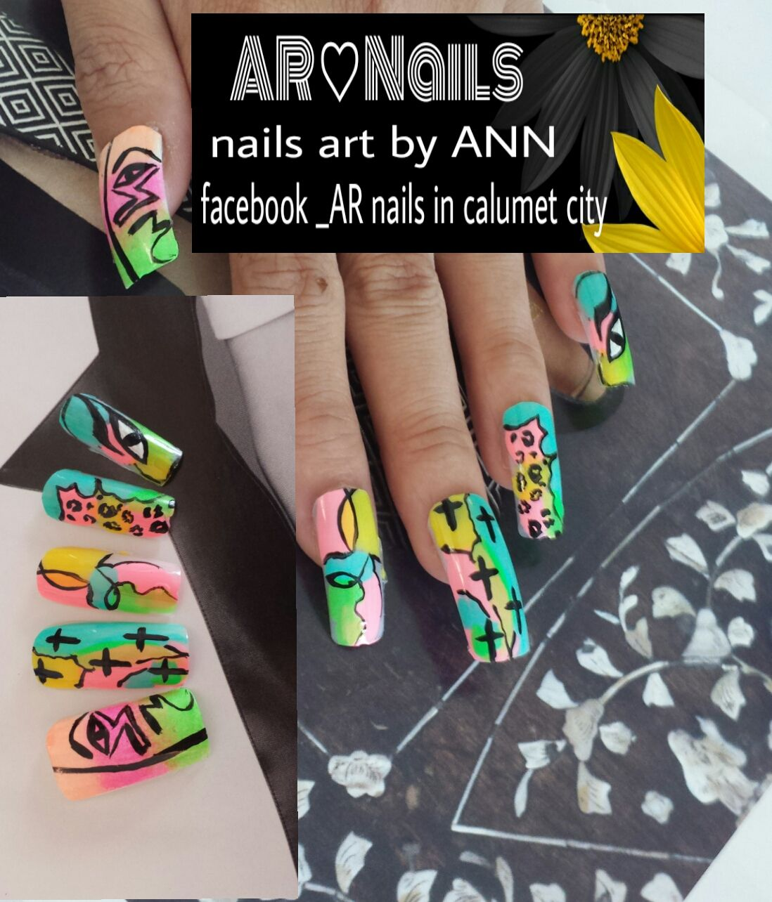 nail art by ANN | Nail art ( free style ) design | Pinterest