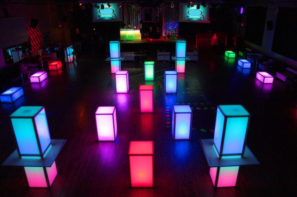 Led Cubes Party Furniture Led Outdoor Lighting Event Decor