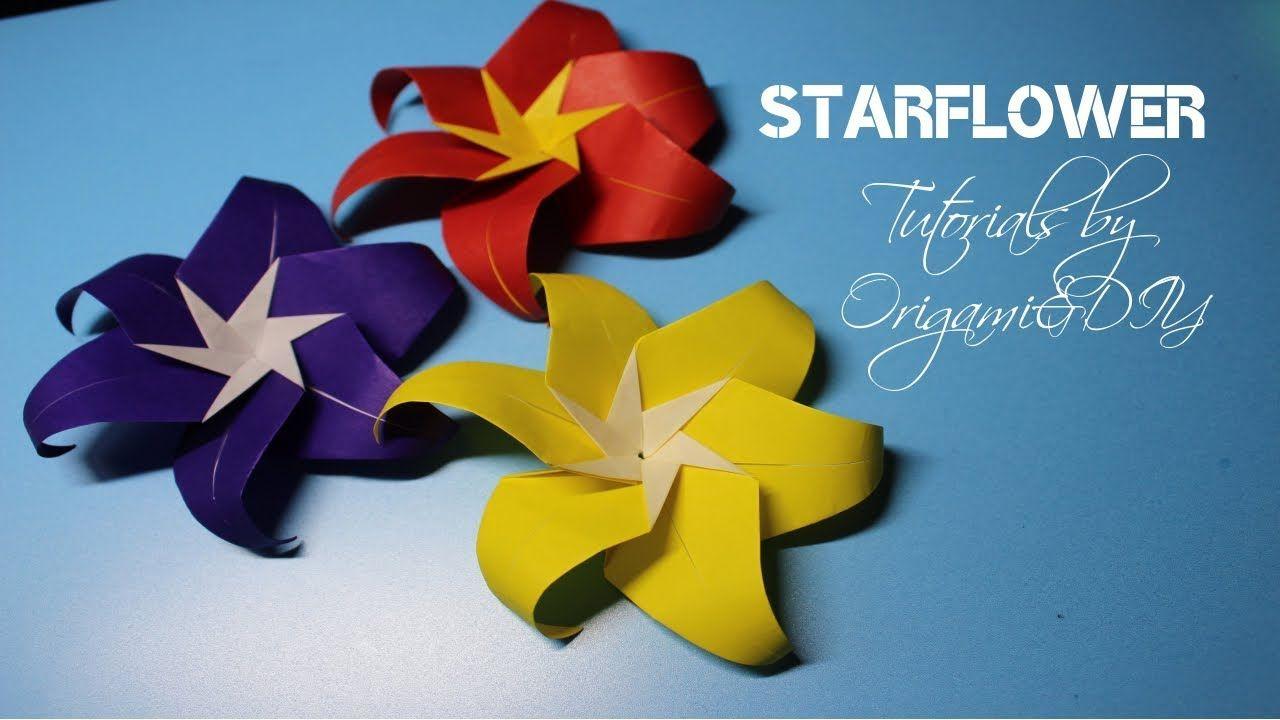 Flower Paper Starflower Easy And Fast Tutorial For Beginners
