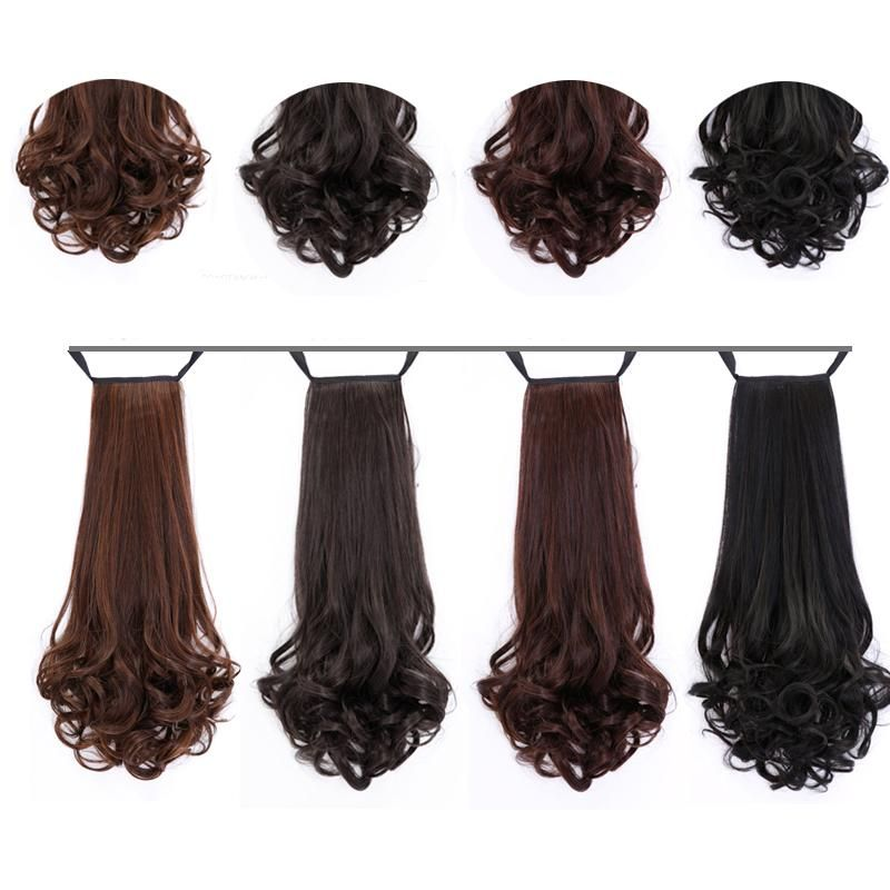Long Lady Girl Wavy Ponytail Wigs Pony Hair Hairpiece Extension