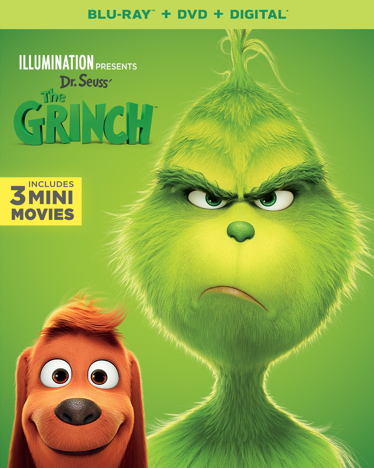Dr Seuss The Grinch On Digital Jan 22nd On Blu Ray And Dvd Feb 5th The Grinch Dvd The Grinch Movie Grinch