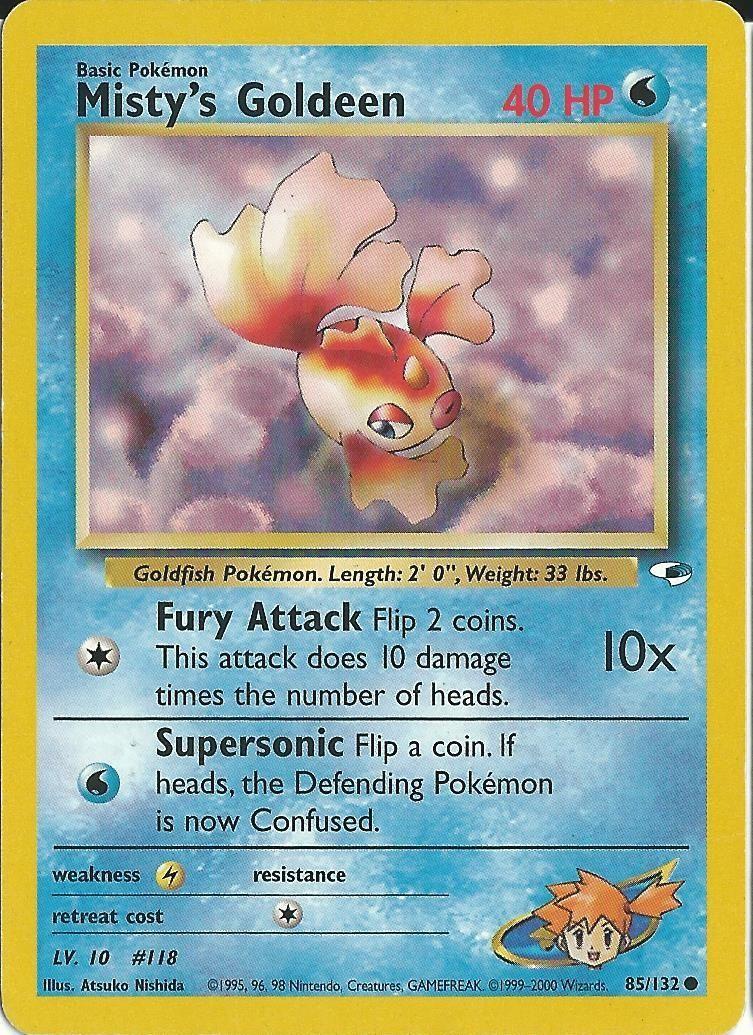 Mistys goldeen pokemon card pokemon pokemon cards