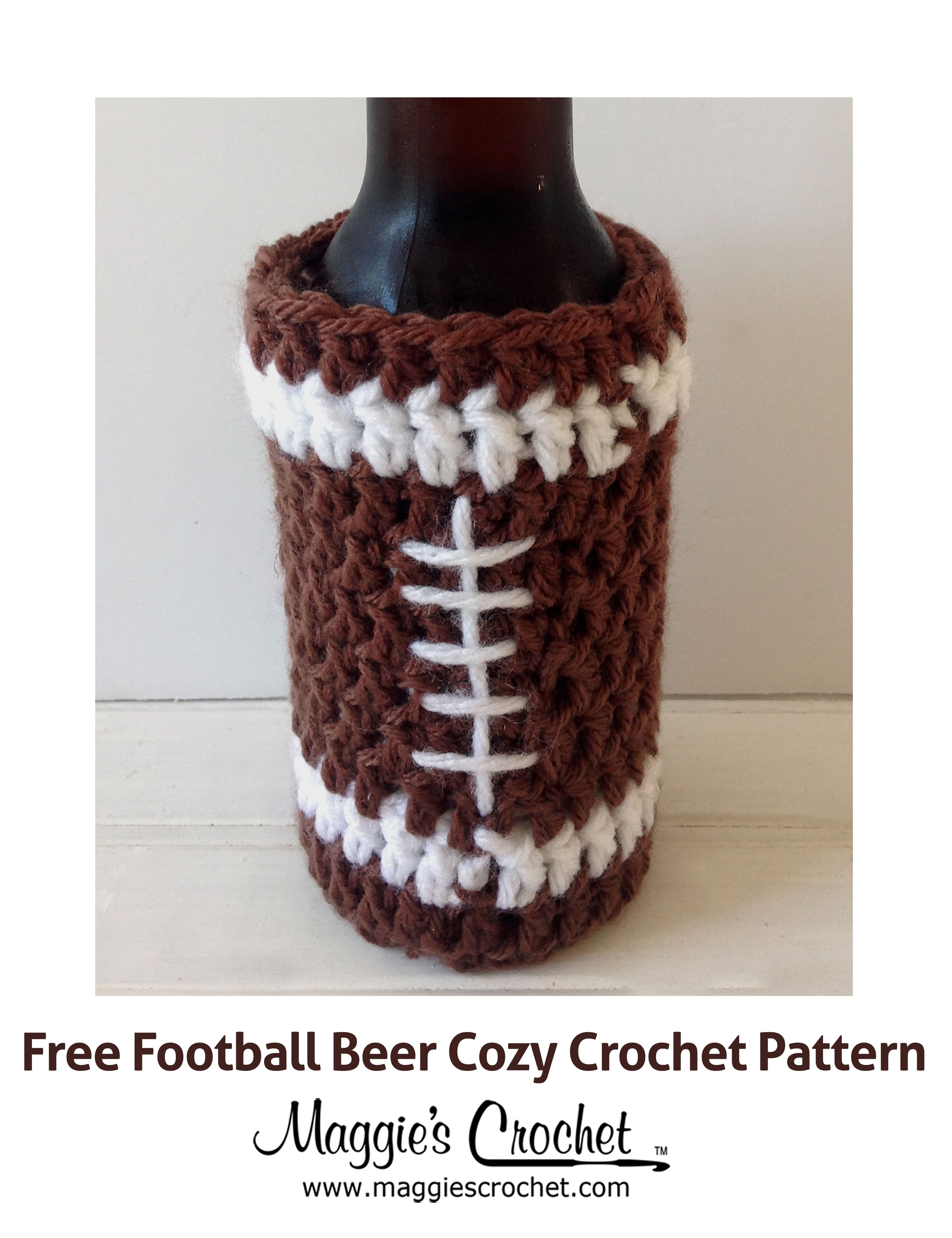Father\'s Day Football Beer Cozy Free Crochet Pattern | CROCHET FREE ...