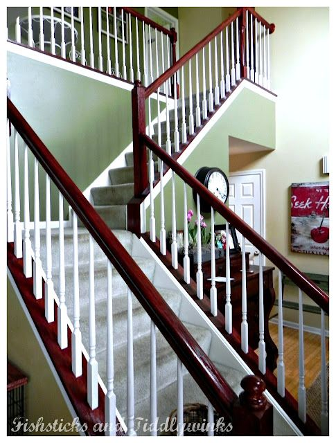 Best Minwax Polyshade Bombay Mahogany Stairs Stair Remodel Stair Landing Decor 640 x 480