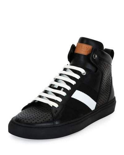 Vintage shoes men, High top sneakers