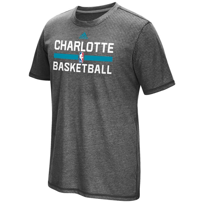 Charlotte Hornets adidas 2016 On-Court Aeroknit climacool T-Shirt - Charcoal
