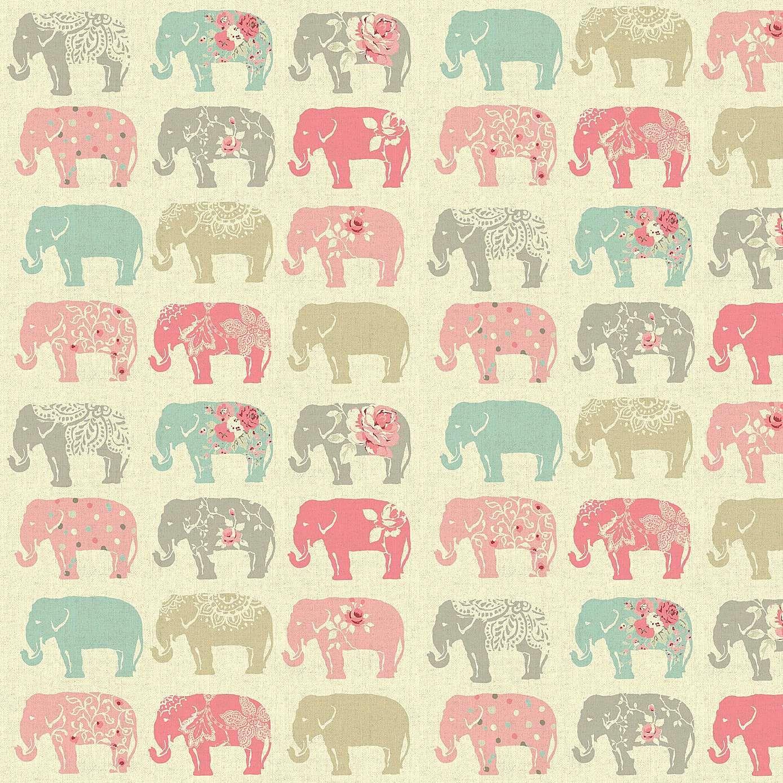ed035323a1ec Pastel Elephants Patterned Fabric