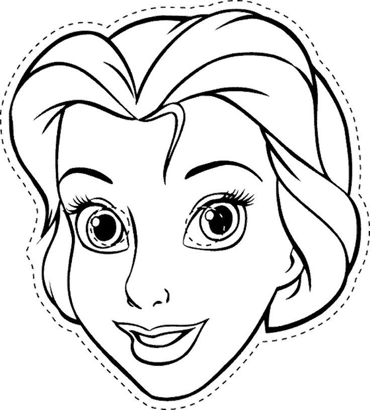 Colour in Elsa and wear the print as a mask! Click on the image to - paper face mask template