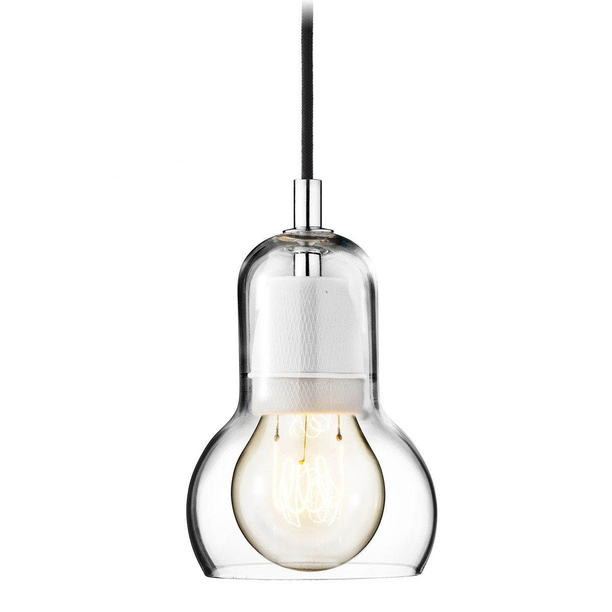 &Tradition - Bulb Pendant Lamp, SR1, clear, transparent cable   Küche
