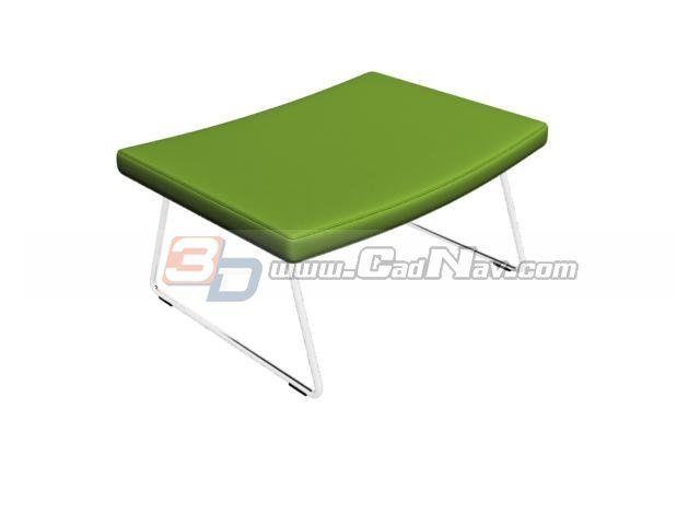 Plastic Step Stool 3d furniture model in 3dsmax + vray