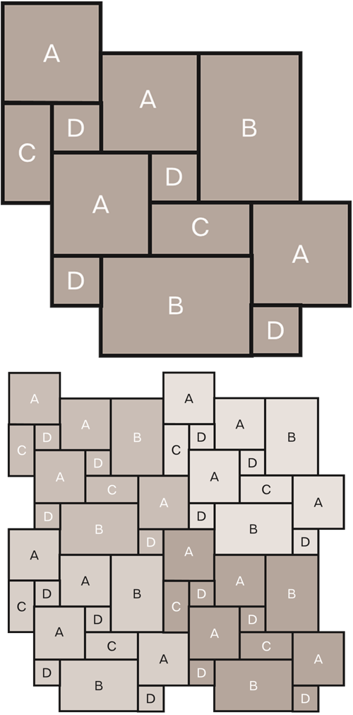 Stone tile laying pattern - Marshalls Roman Opus | Pattern ...