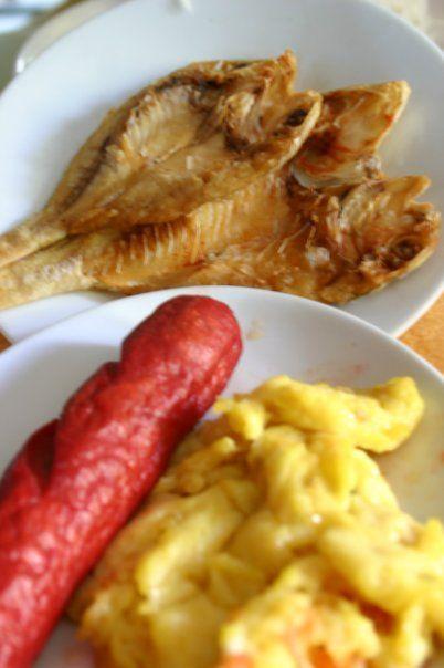 Bulad Dried Fish Hotdog And Eggs Yummy Pinoy Breakfast