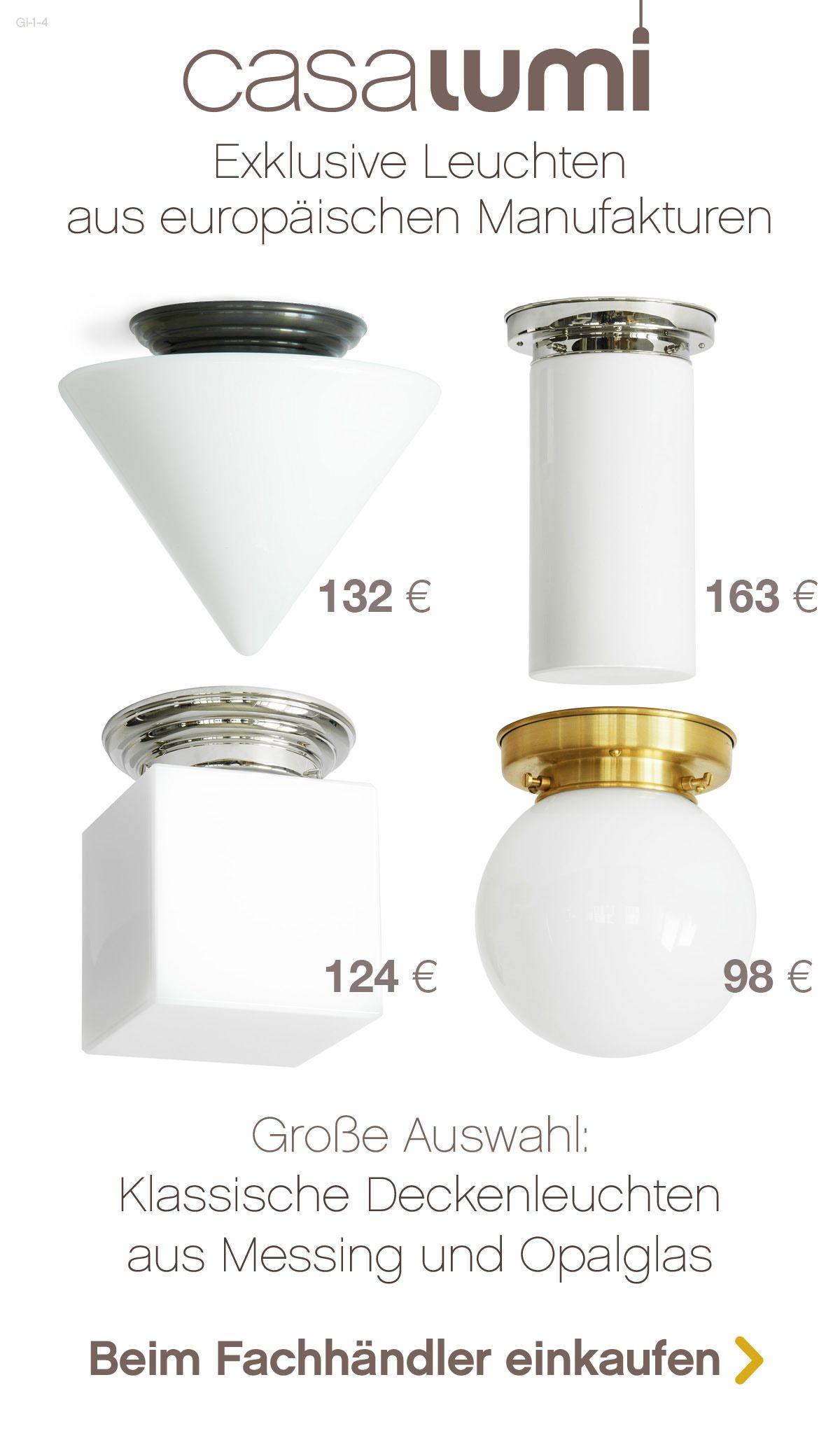 Zeitlose Deckenleuchten Aus Opalglas Und Messing Art Deco Bis Bauhaus Deckenleuchten Messing Und Glas