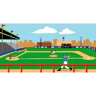 Baseball Stadium Paint By Number Wall Mural