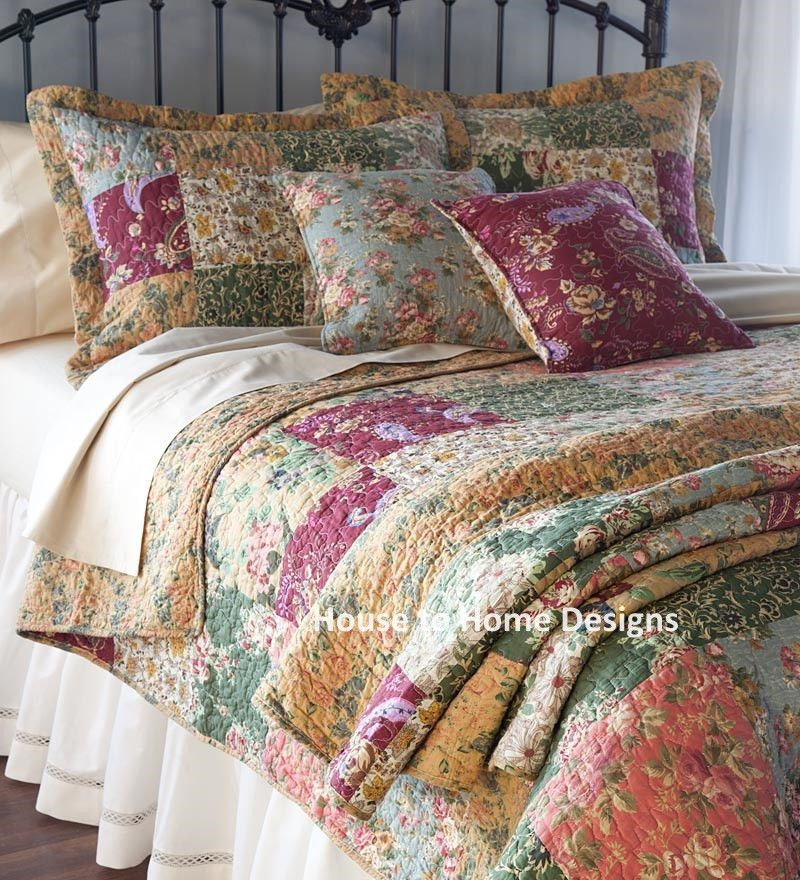 Details About Antique Country Full Queen Quilt Set 100