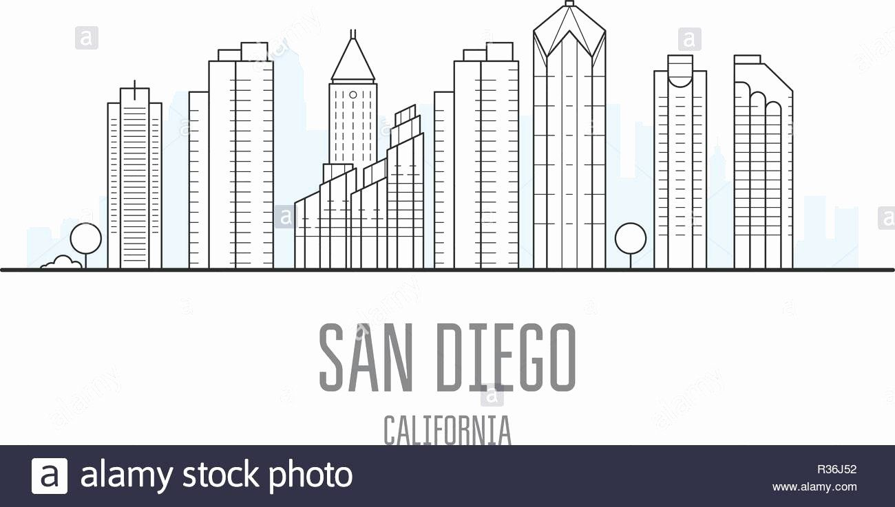 Juan Diego Coloring Pages Unique 100 Beautiful San Diego Skyline Silhouette Bination Coloring Pages San Diego Skyline Diego