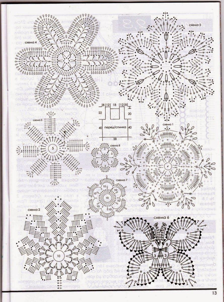 Meu Paraiso: Graficos Croche Irlandes | artesanato ...