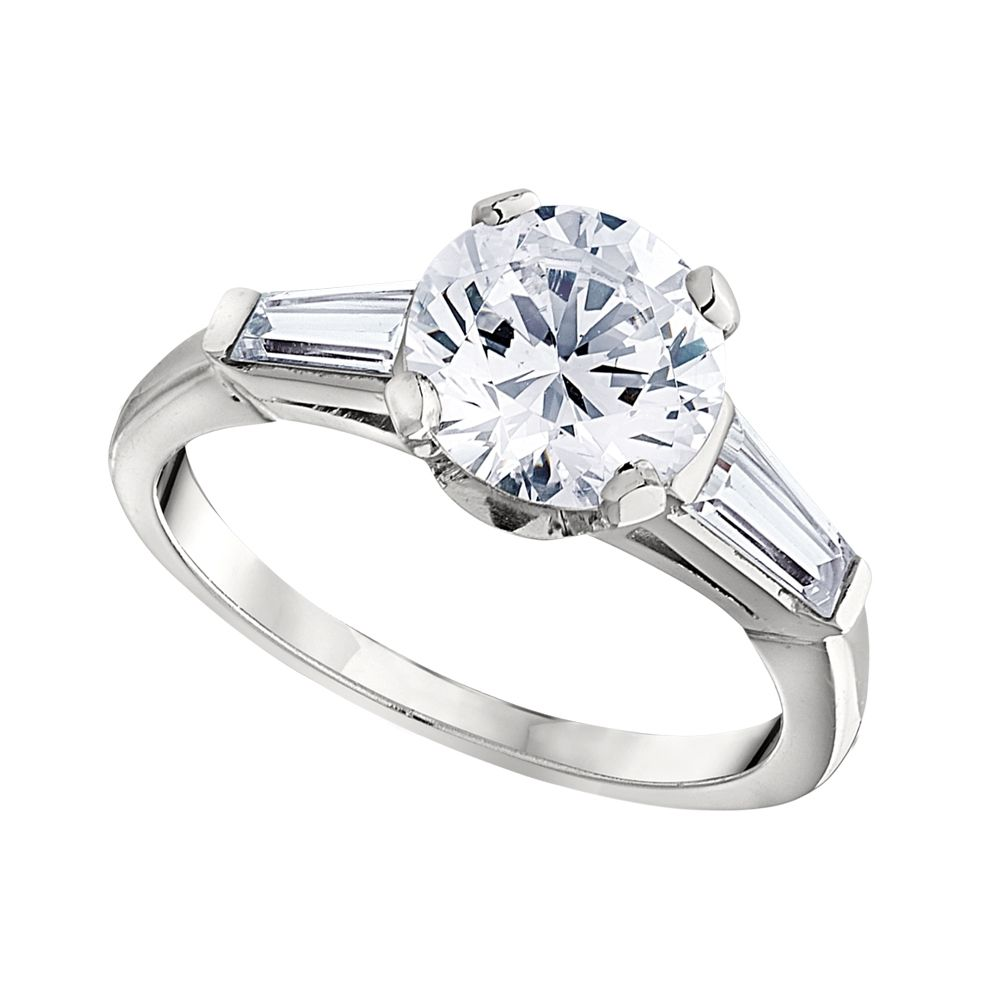 tapered setting jewellery diamond solitaire princess ring platinum engagement settings in cut