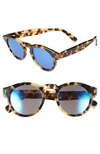 Women's Illesteva 'Leonard' 48mm Sunglasses Tortoise/ Blue #shop