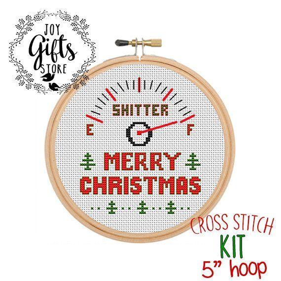 Shitter\u0027s Full Merry Christmas Cross Stitch Kit Christmas Vacation