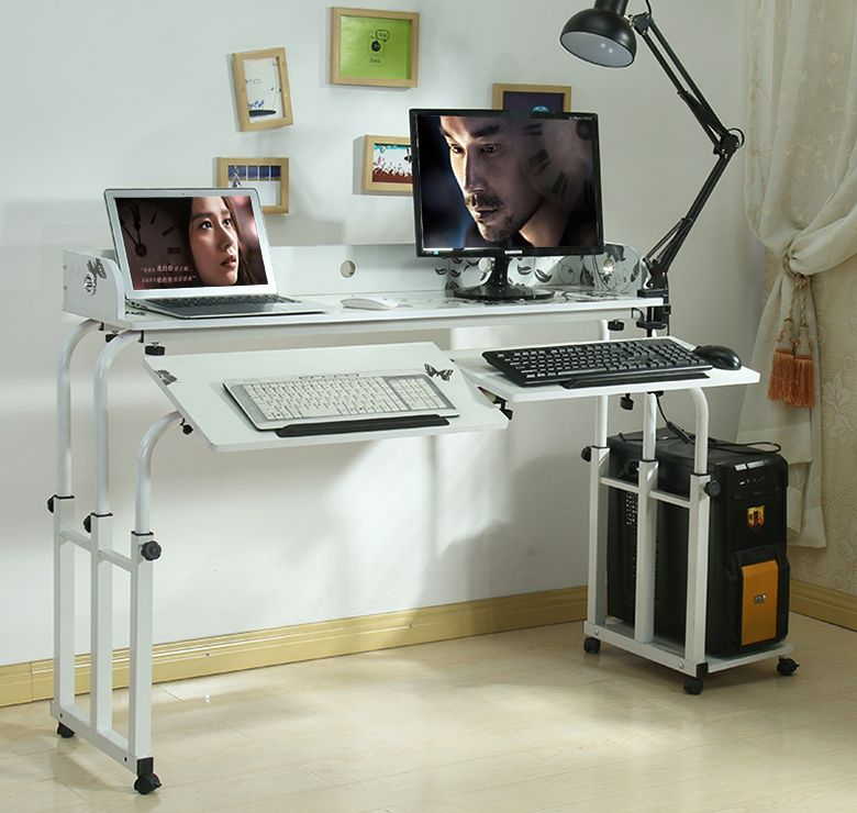 Double Bed Computer Desk Table Dining Can Be Tilted Across The Nursing