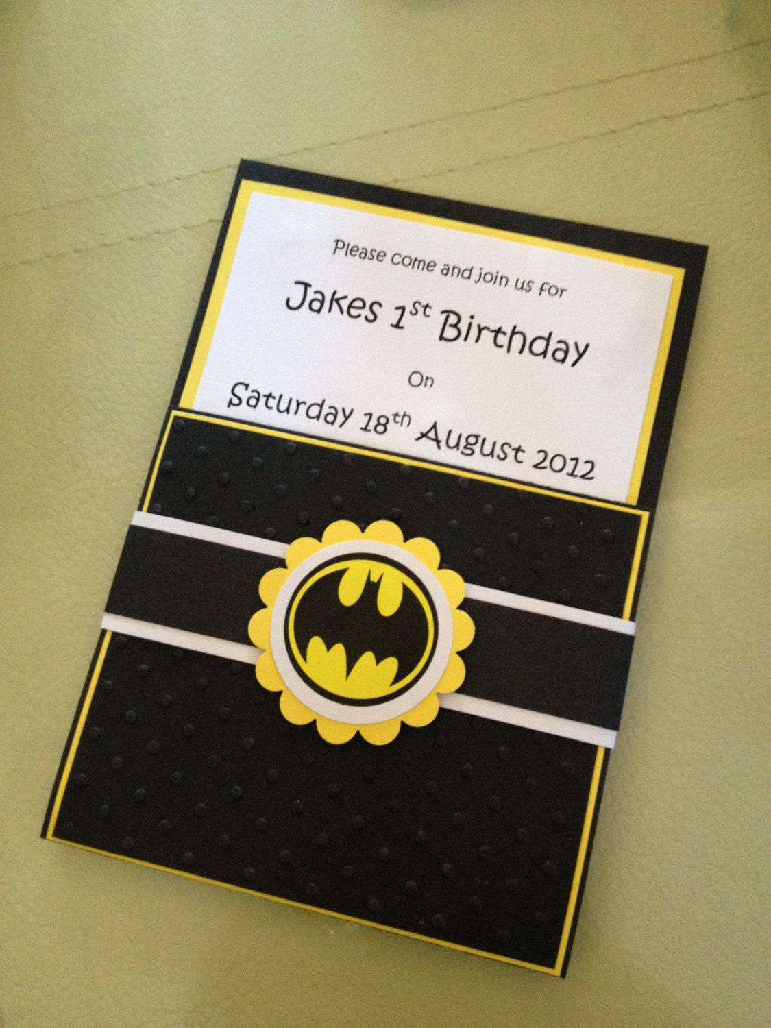 Handmade Batman Party Invitations Amp Envelopes In 2019