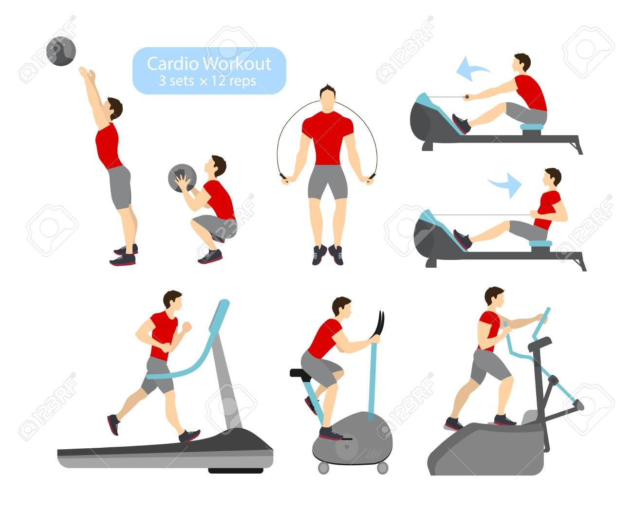 Aerobic Exercise Examples In 2021 Aerobic Exercise Cardio Workout Physical Fitness